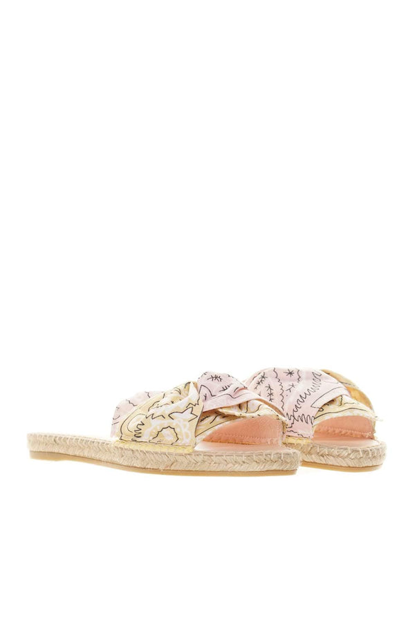 Bandana Rose & Sweet Yellow Slide Sandals