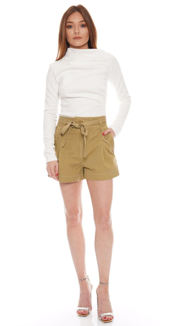 Ulla Johnson - Oscar High Rise Belted Shorts