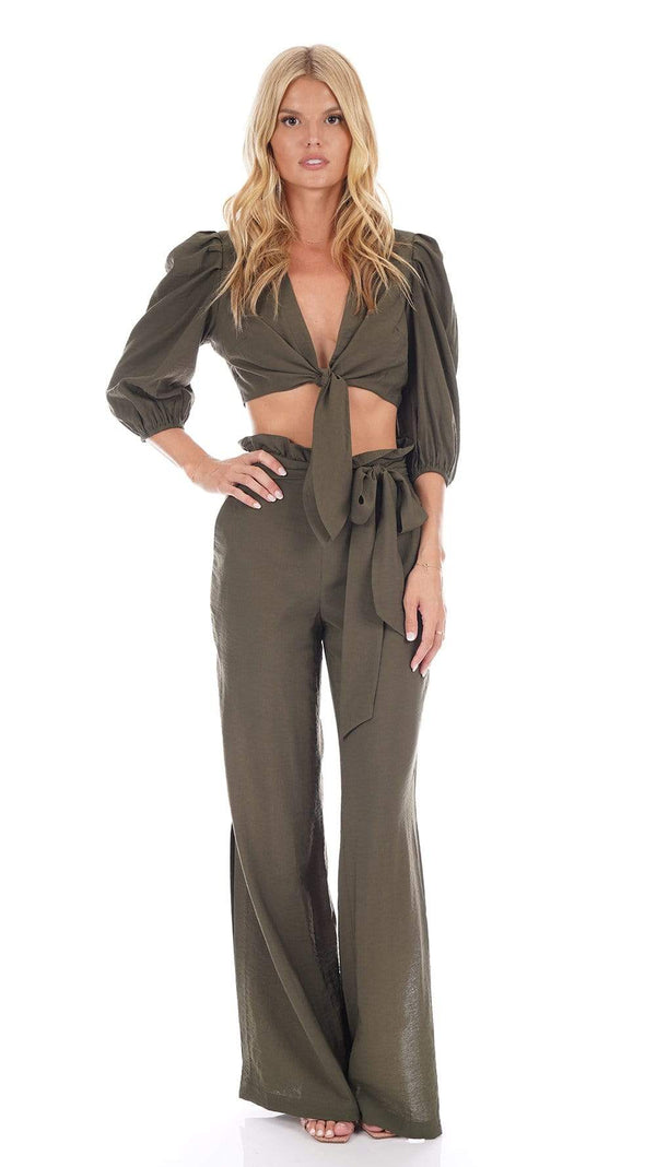 Jonathan Simkhai - Kinzley Solid Paper Bag Maxi Pants