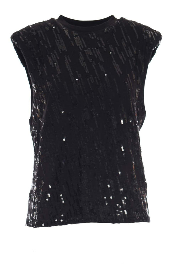 Retrofête - Nila Black Sequined T-Shirt