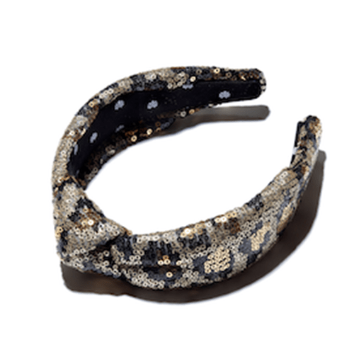 Sequin Leopard Knotted Headband