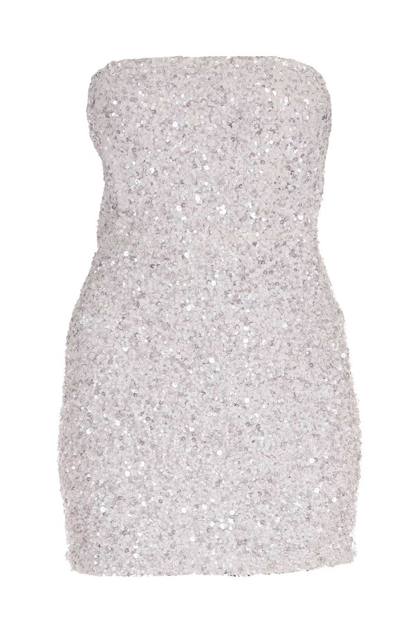 Heather Sequined Chiffon Mini Dress