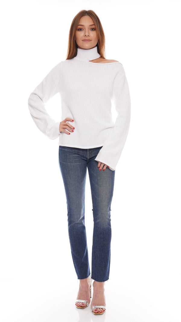 RtA - Langley White Turtleneck Sweater