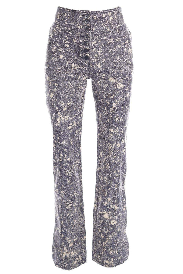 Ulla Johnson Mars Indigo Marble High Waisted Jeans
