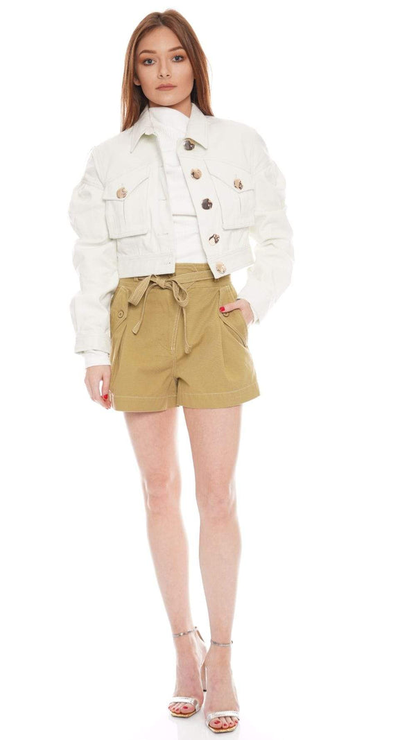 Acler - Dunbar Puff Sleeve Cropped Jacket