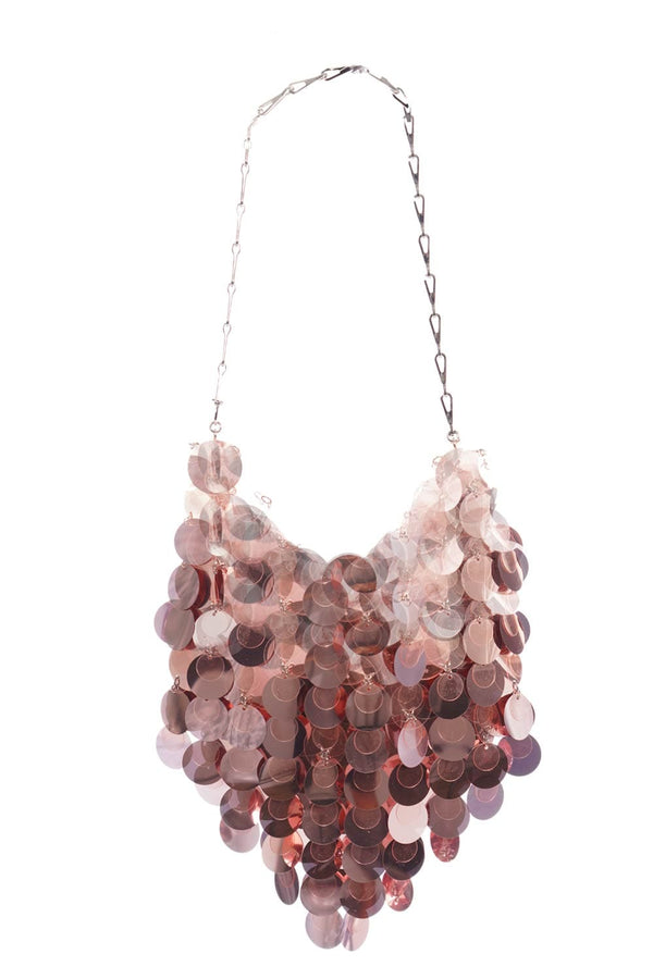 Paco Rabanne - Lilac Sparkle Hobo Shoulder Bag