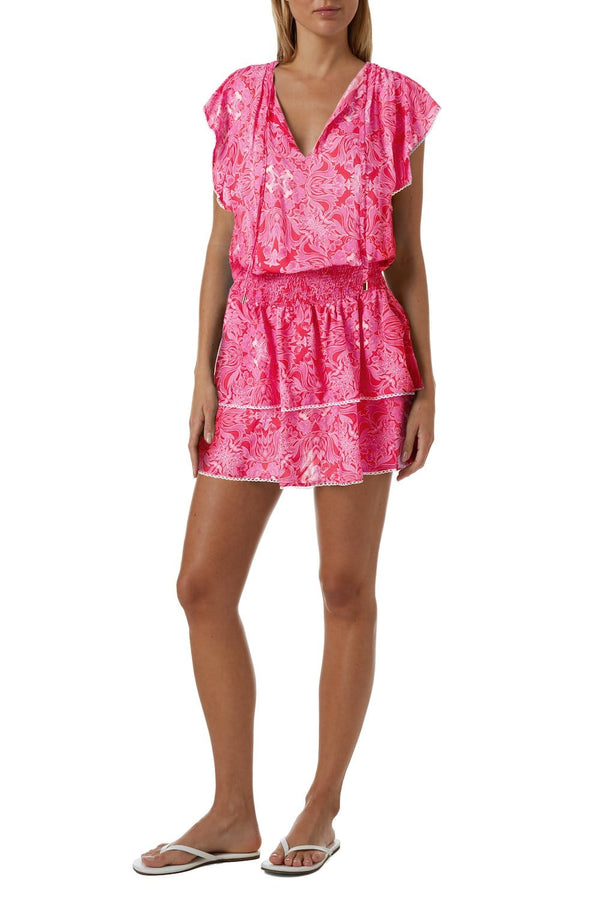 Melissa Odabash - Keri Carnival Print Mini Dress