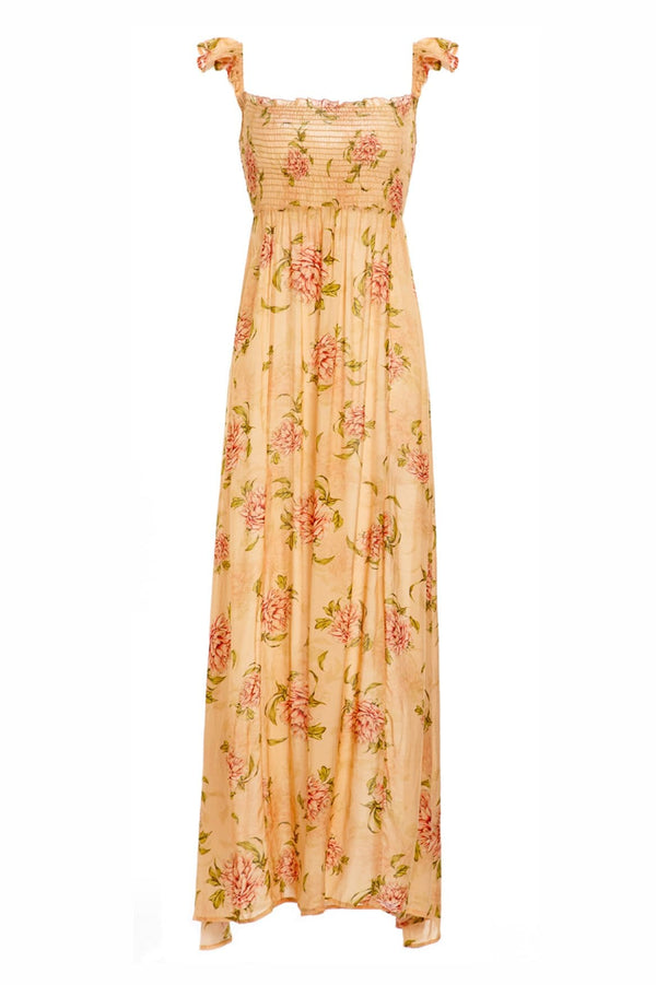 Leandra Blomma Floral Smocked Maxi Dress