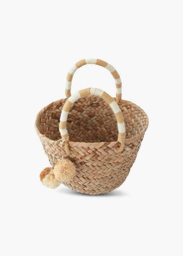 KAYU - St Tropez Natural Straw Mini Tote Handbag