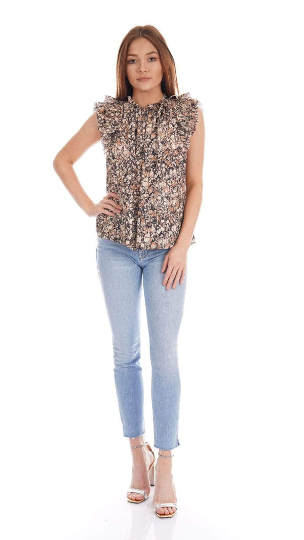 Ulla Johnson - Haru Floral Flutter Sleeve Top