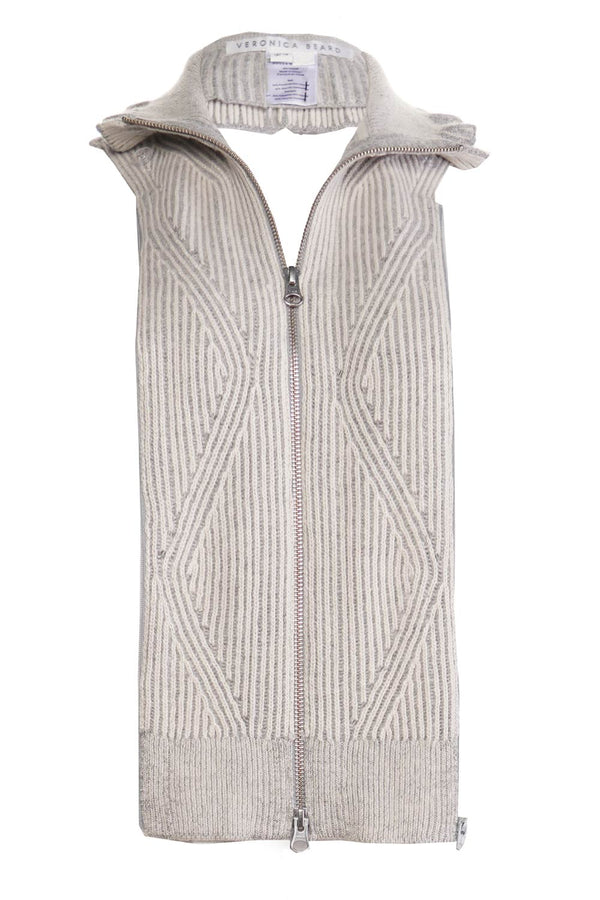 Veronica Beard Frita Ivory and Grey Sweater Dickey