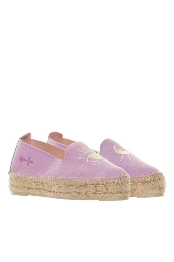 Palm Springs Lilac & Yellow Eye Espadrilles