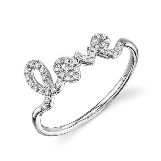 Sydney Evan Classic White Gold Love Ring
