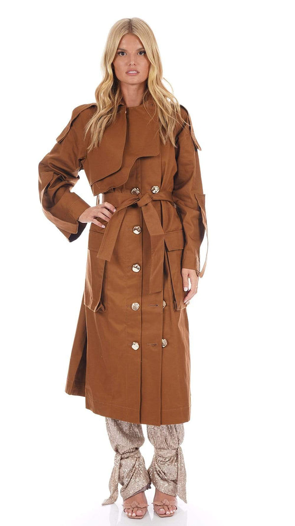 Acler - Alston Button Front Trench Coat