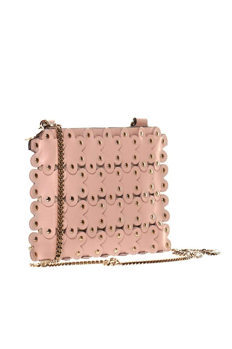 Flower Puzzle Nude Leather Pochette