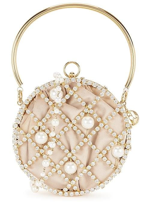 ROSANTICA Ines Crystal Pearl Circle Bag