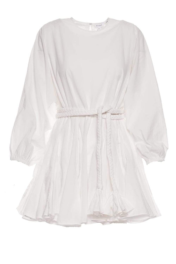 Rhode - Ella White Braided Belt Mini Dress