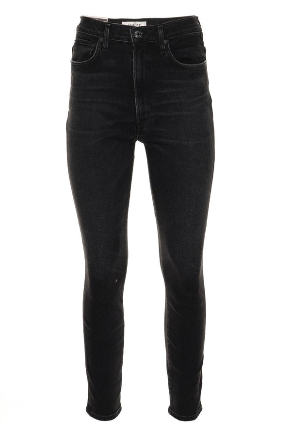Pinch Waist Hotline High Rise Skinny Jeans