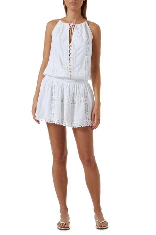 Melissa Odabash - Chelsea White Eyelet Cover Up