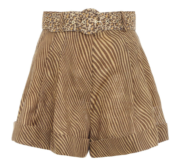 ZIMMERMANN - Empire Zebra Print Cuffed Short