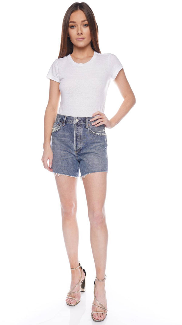 AGOLDE Reese Precision High-Rise Denim Shorts