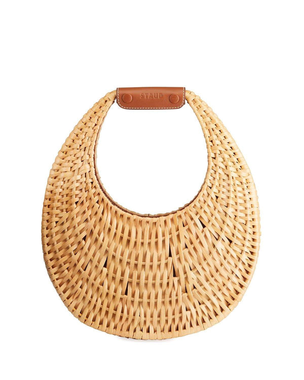 Staud Moon Natural Rattan Shoulder Bag