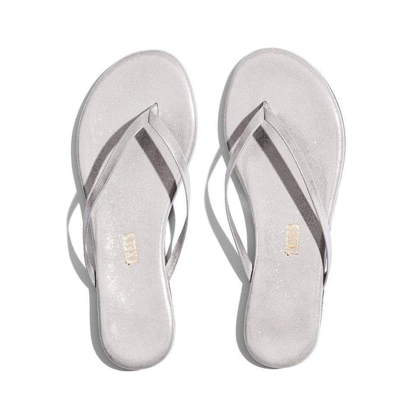 TKEES - Glitters Silver Thong Sandal