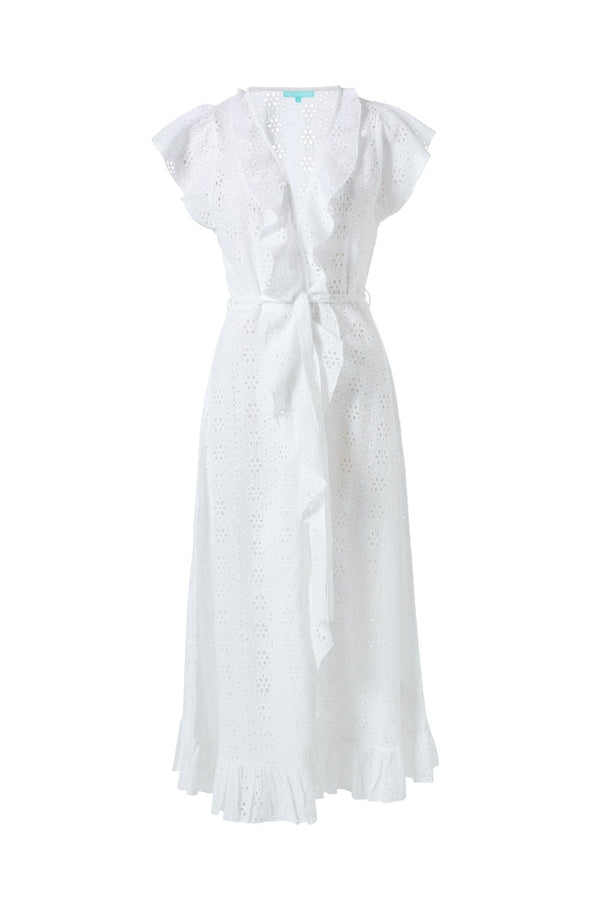 Melissa Odabash - Brianna White Ruffled Maxi Cover Up