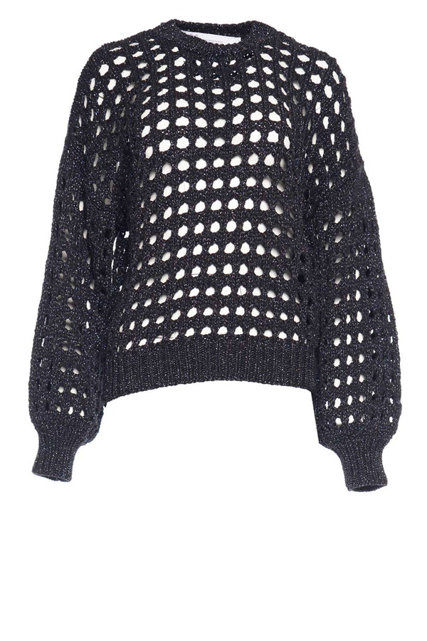 Alyne Open-Knit Lurex Sweater