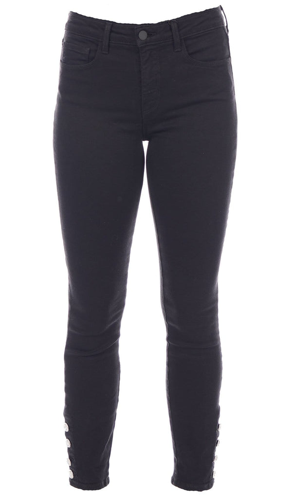 Lindsey Skinny Pant with Jeweled Buttons