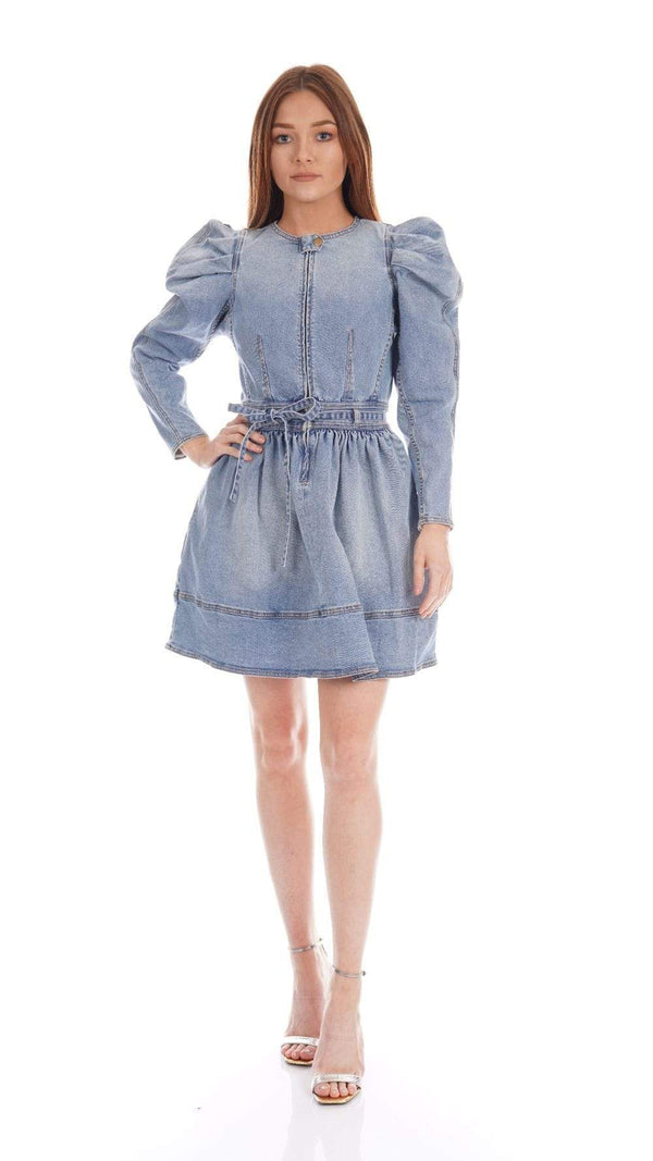 Ulla Johnson - Domino Belted Denim Mini Dress