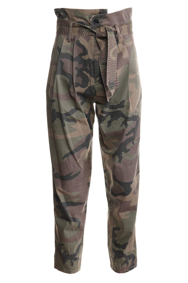 Piper Vintage Washed Camo Pegged Leg Pant
