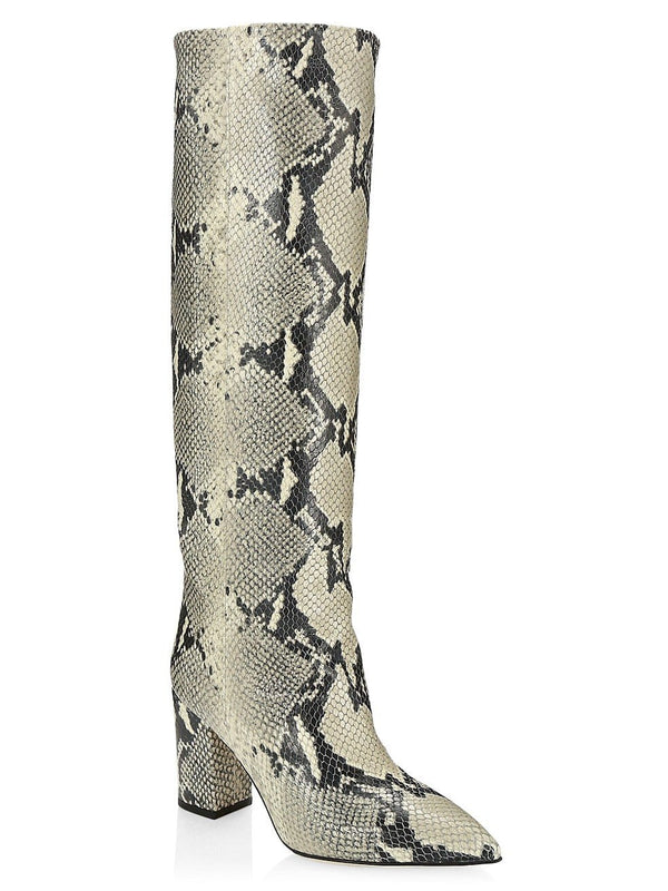 Paris Texas - Python Print Knee High Boots