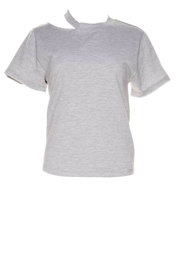 Tate Heather Grey Cut Out Tee