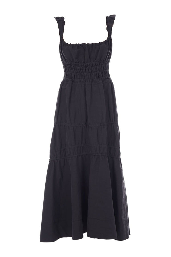 Brock Collection - Prisca Black Cotton Midi Dress