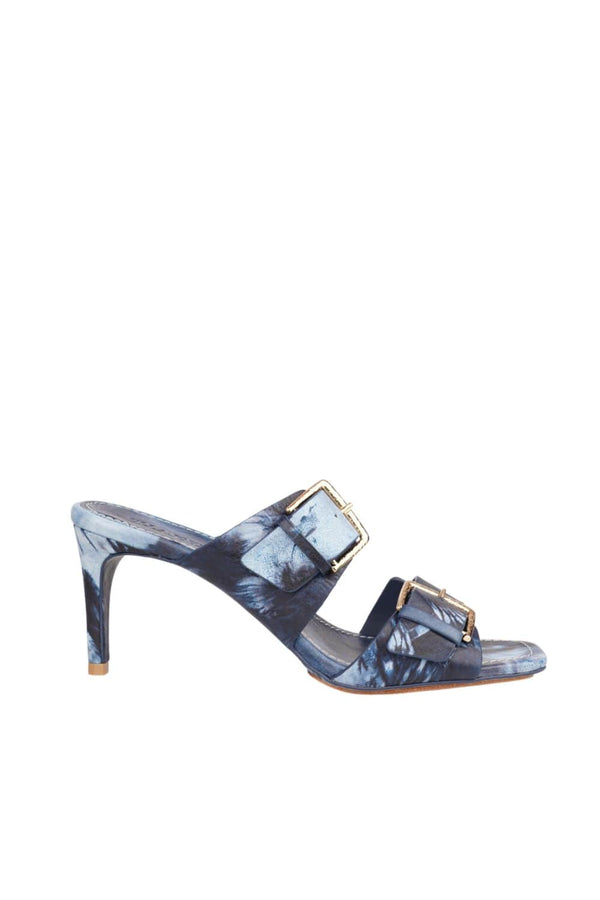 Ulla Johnson - Carine Blue Indigo Buckle Heel