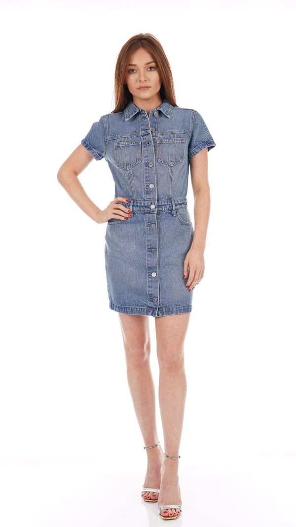 GRLFRND - Macie Faded Denim Mini Dress