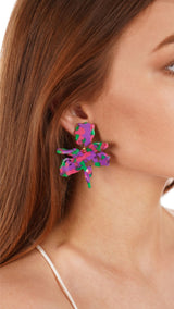 Lele Sadoughi - Tarte Small Paper Lily Earrings