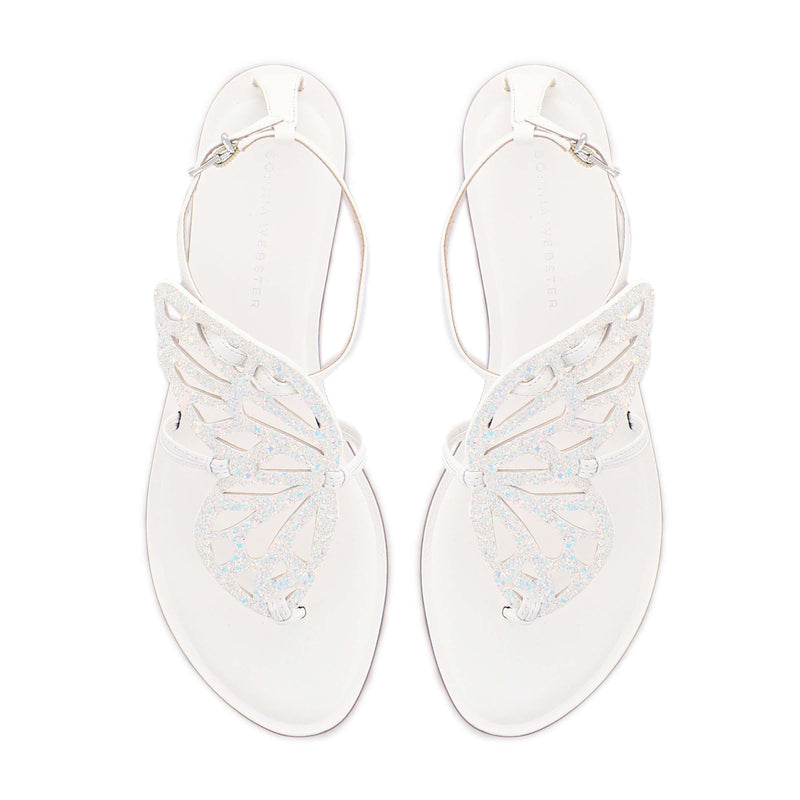 Sophia Webster Butterfly Glitter Thong Sandals