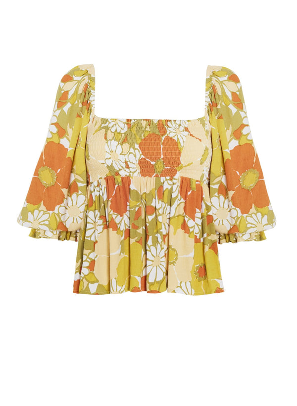 Bettina Isola Floral Baby Doll Top