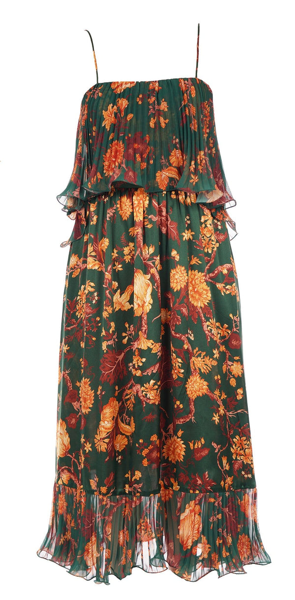 Adeline Forest Green Maxi Dress