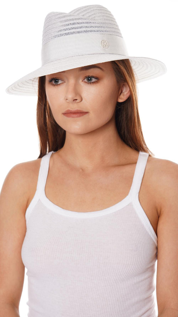 MAISON MICHEL - Virginie Timeless Colored Canapa White Straw Sunhat