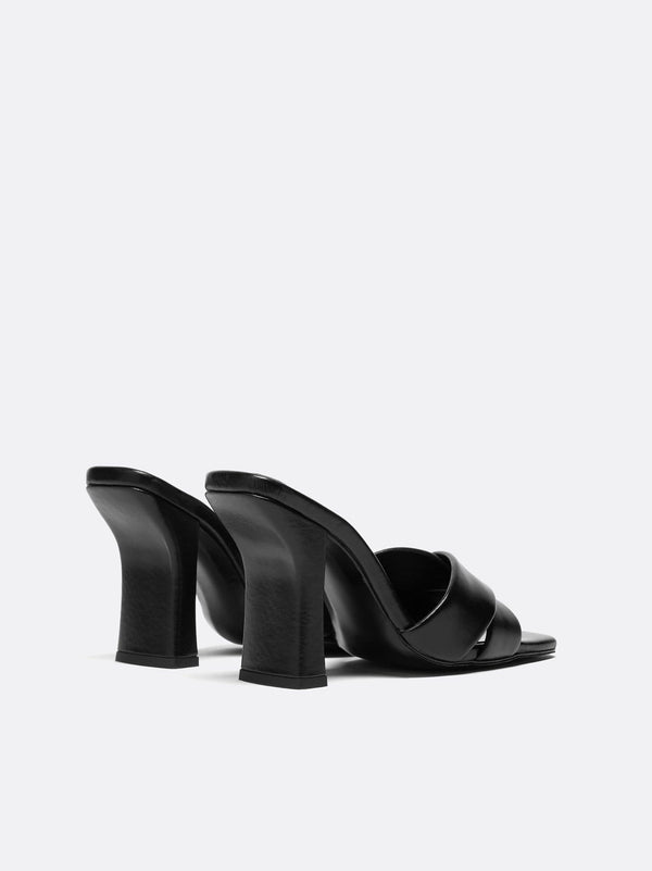 Dorateymur - Retox High Heel Black Leather Sandal