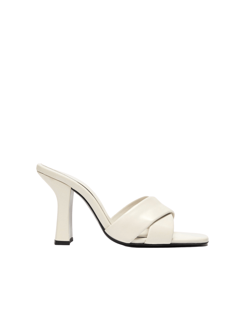 Dorateymur Retox Off White High Heel Leather Sandal