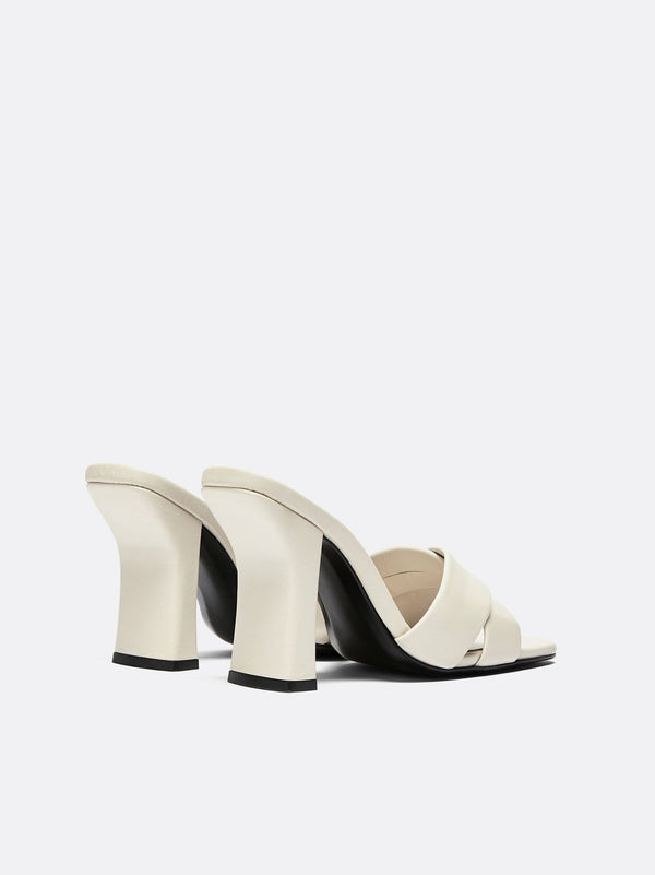 Dorateymur - Retox Off White High Heel Leather Sandal