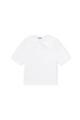 Basic Cotton Jersey Twisted Tee
