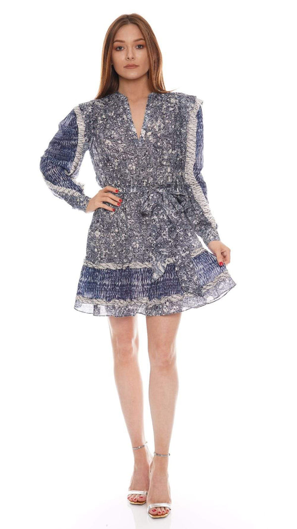 Ulla Johnson - Noumi Indigo Long Sleeve Mini Dress