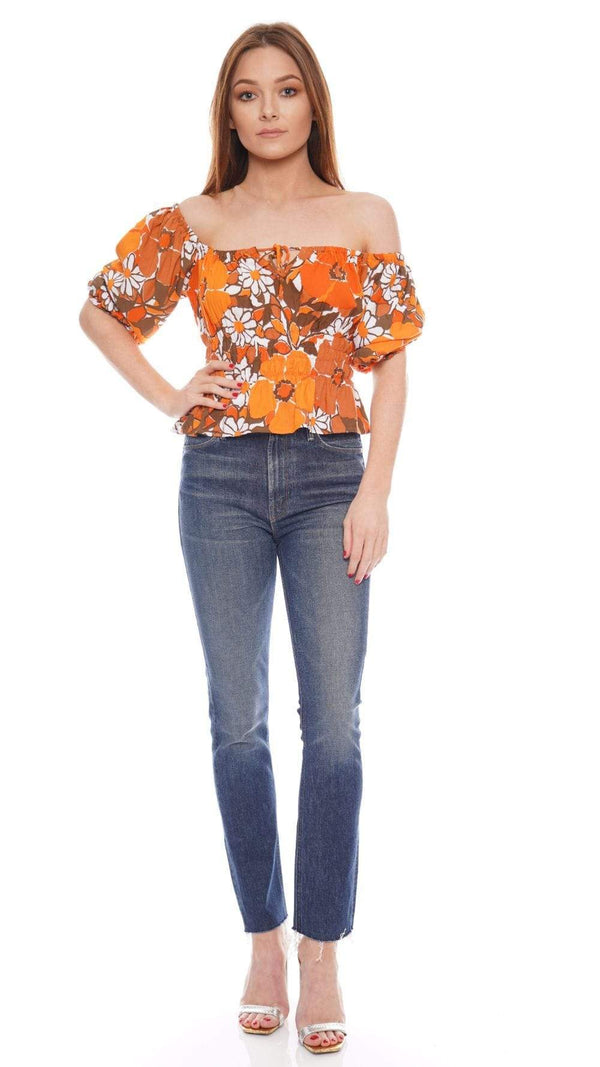 Faithfull The Brand - Liberia Isola Floral Puff Sleeve Top