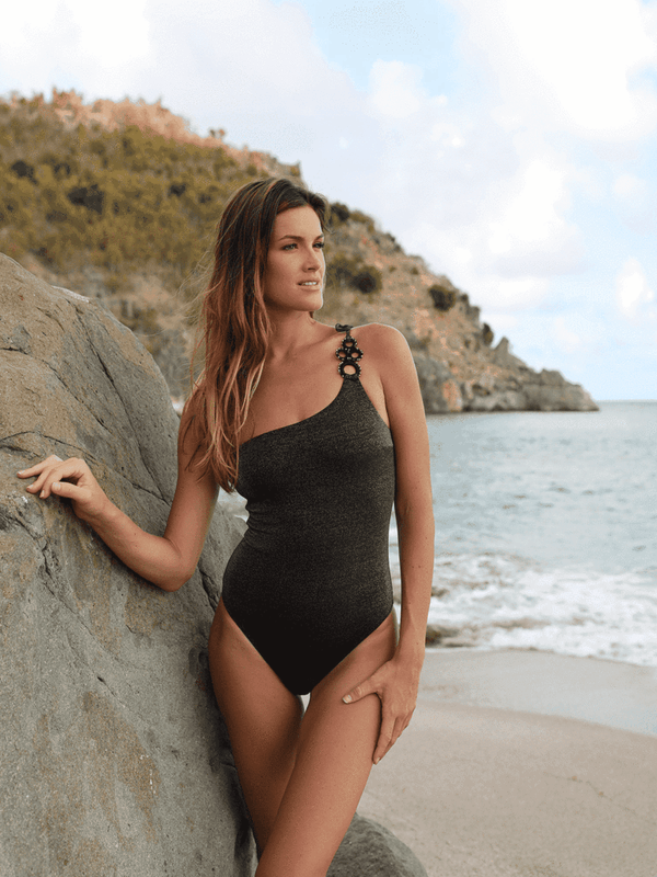MY BEACHY SIDE - AJDA ONE SHOULDER SWIMSUIT