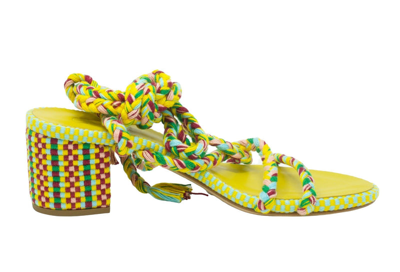 Antolina - Fina Ankle Tie Woven Sandal - Caribe